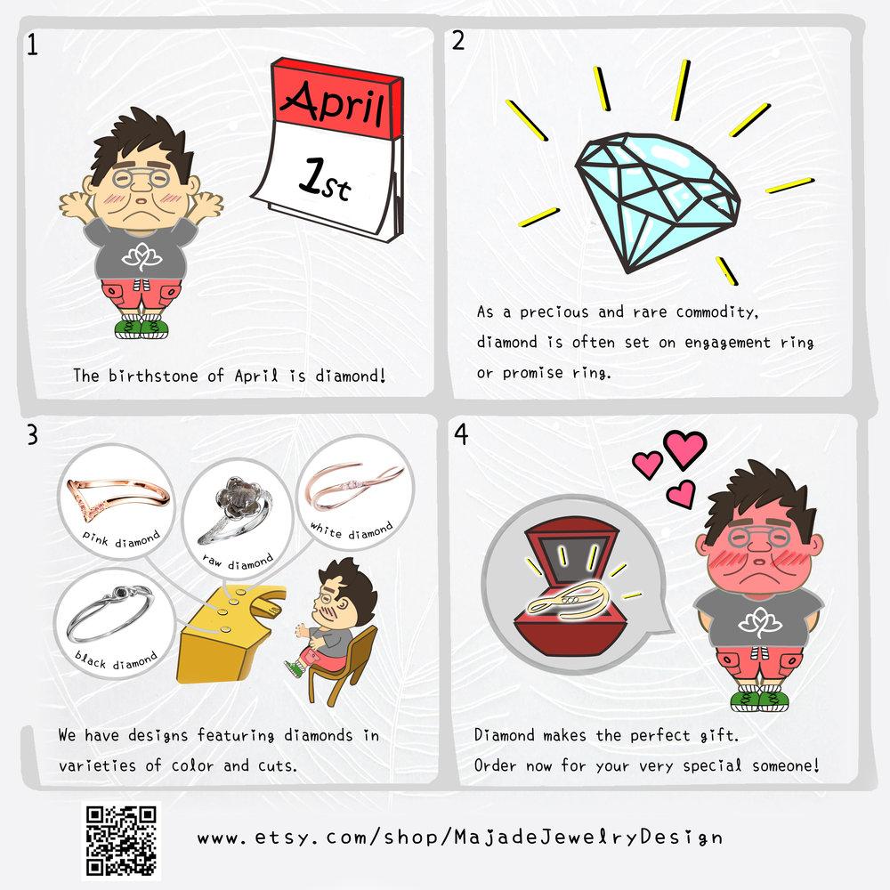 #diamond ring #diamond engagement ring #diamond wedding ring #diamond promise ring #conflict free diamond # April birthstone