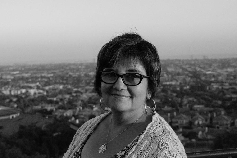 Joyce at Signal Hill, CA, one of her favorite places in the city.