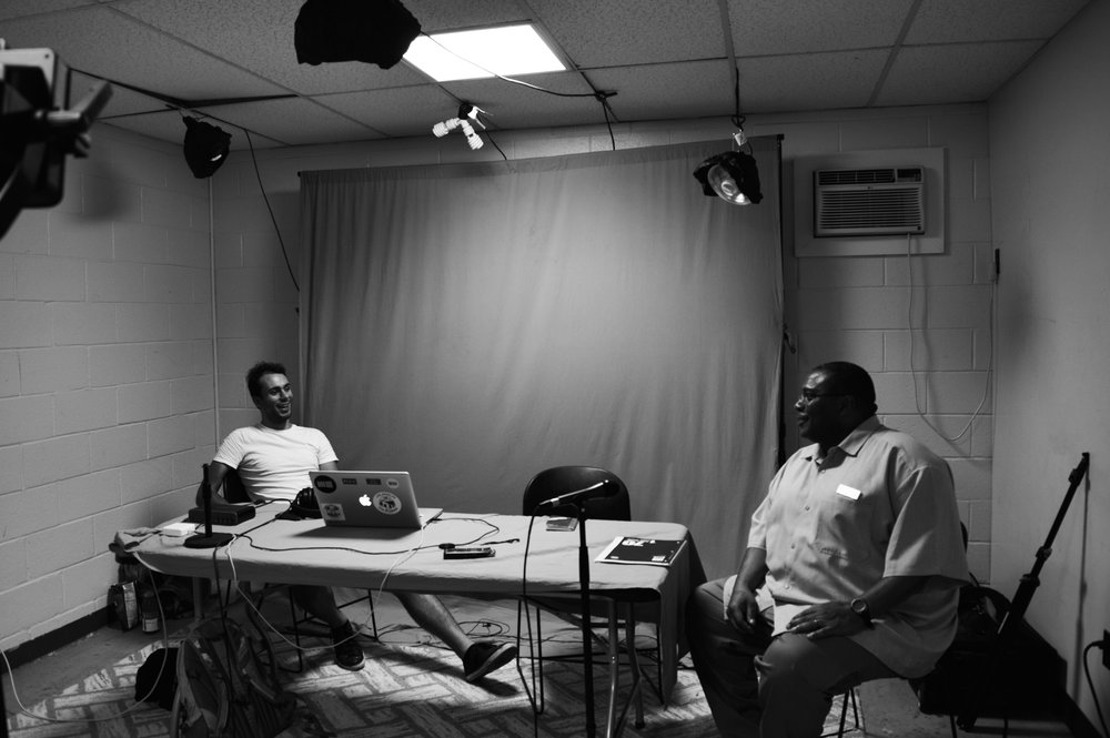 Lenford and our Producer/Sound Artist, Alessandro, awaiting the initiation of his interview.