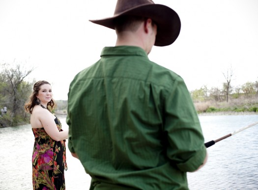 Fishing engagement photography