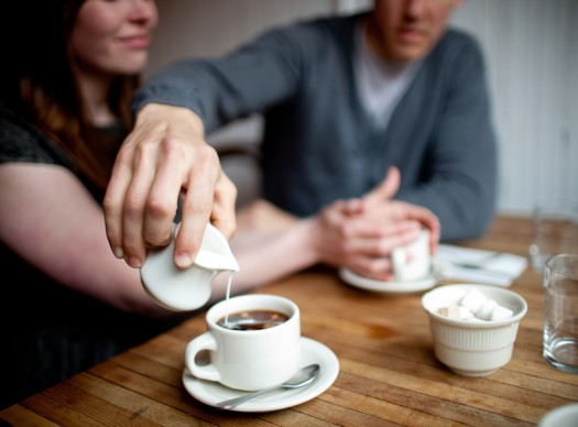 coffee house couple portrait