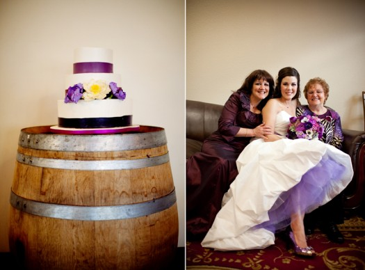 Bride in purple driftwood, tx