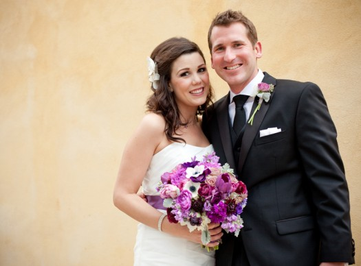 Happy Bride and Groom portrait