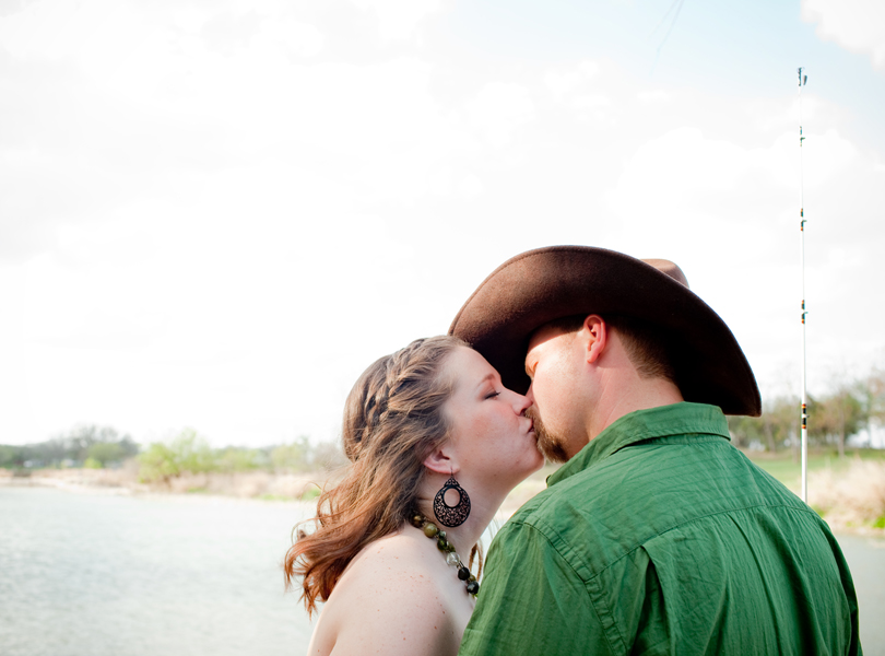 cowboy kissing photograph