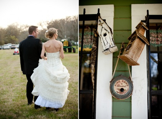 farm wedding details