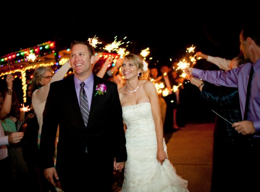 sparkler wedding departure