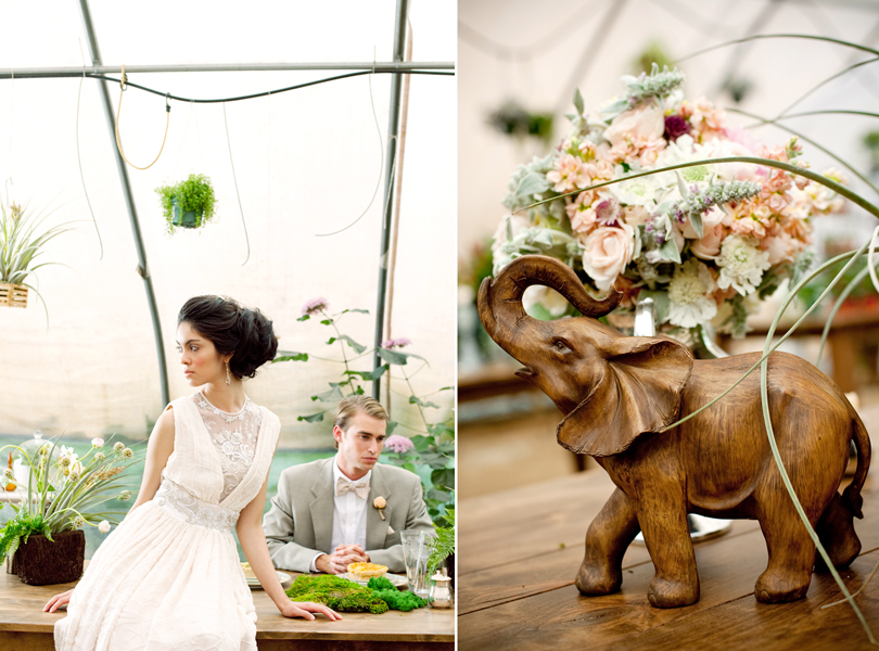 styled wedding shoot at the Hummingbird House