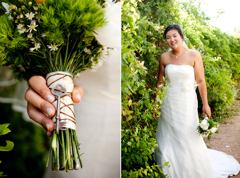 Key on bridal bouquet, austin barr mansion wedding photography