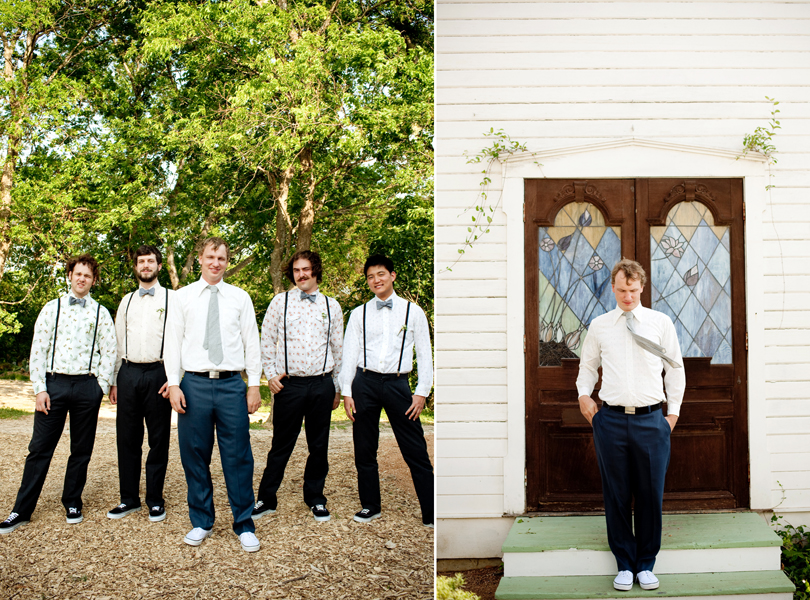 wes anderson groomsmen portrait, groom portrait