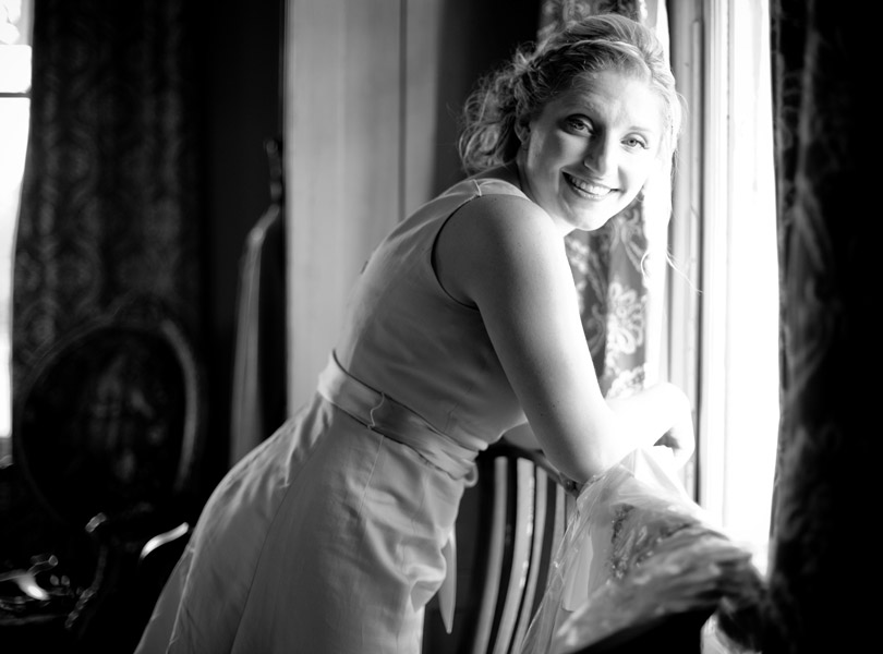 bridesmaid portrait, barr mansion wedding photography
