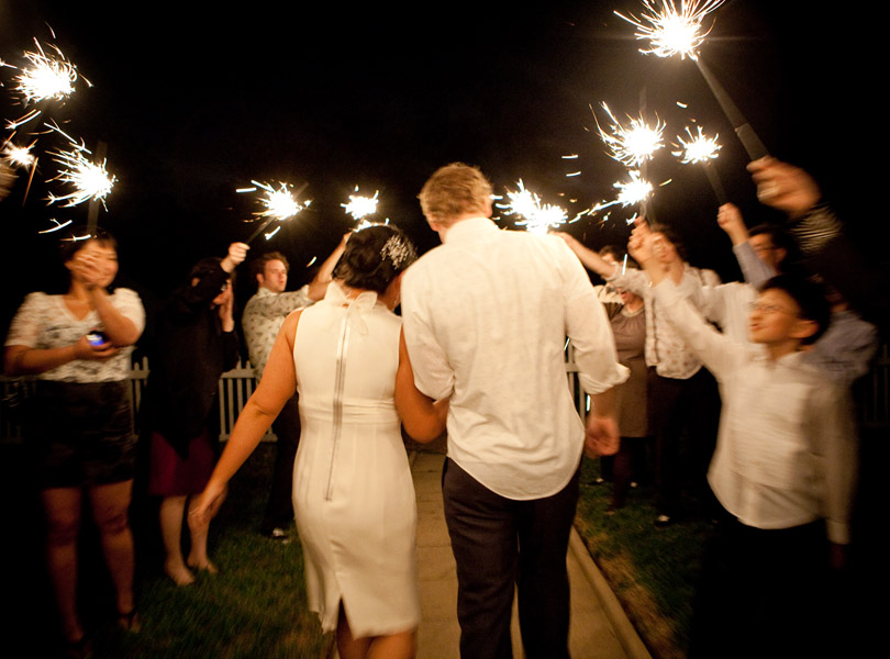 sparkler wedding exit, barr mansion austin texas