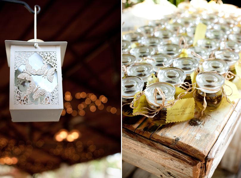 creative wedding favors at the inn at wild rose hall