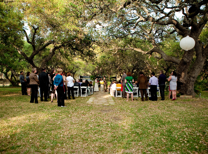 Wedding Ceremony at the Inn at Wild Rose Hall