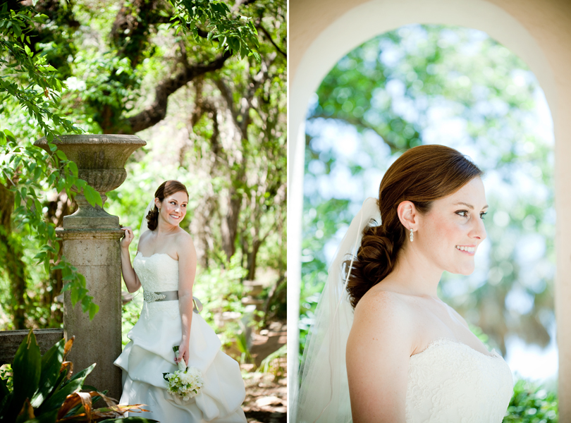 bridal portrait in nature