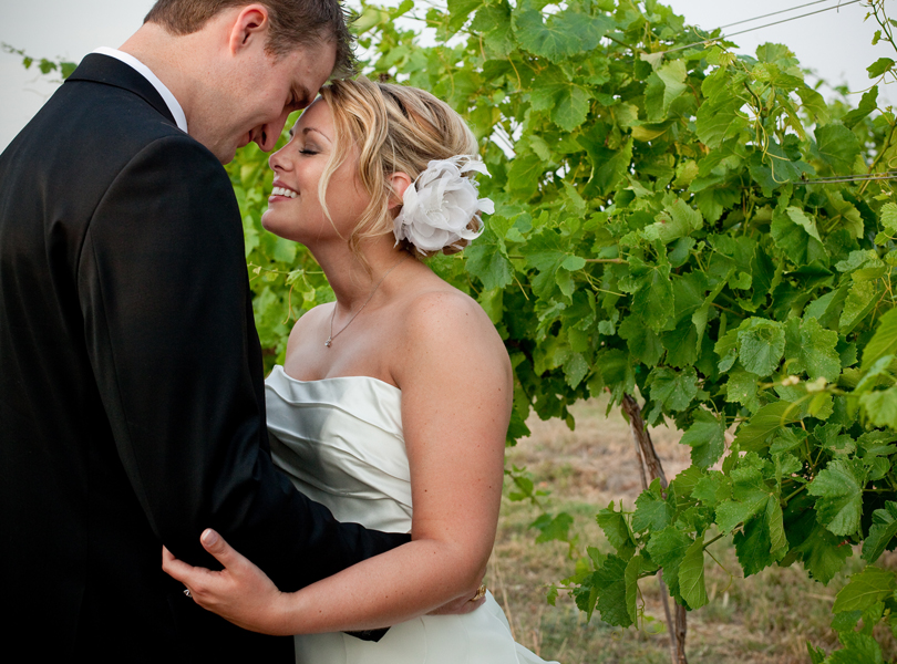 bride and groom vineyard weddings