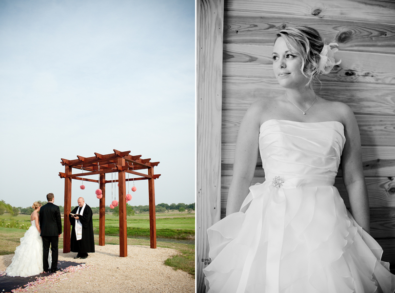bride and groom at the alter, bridal portrait, destination wedding pictures
