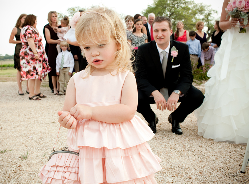 flower girl, groom, austin wedding