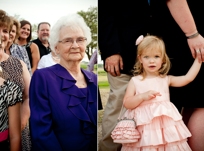 generational grandma, flower girl, wedding images