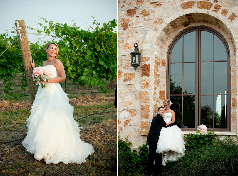 vineyard wedding portrait at sunset, wedding photographer