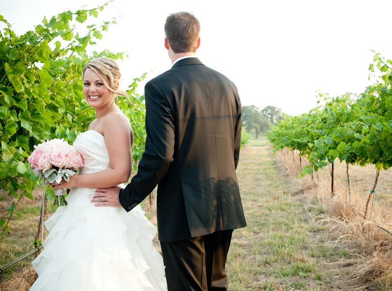 vineyard bride and groom portraits, wedding shots