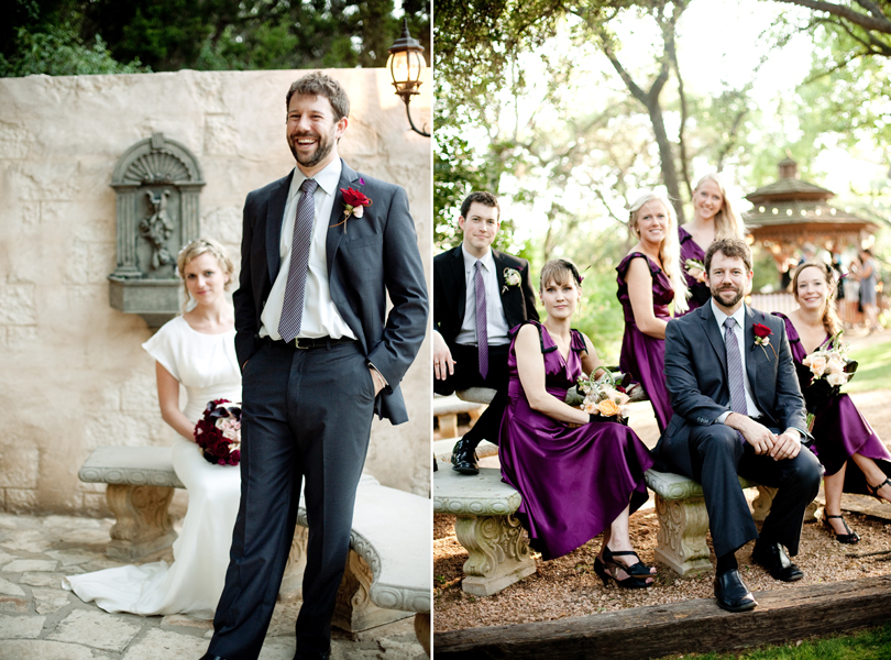 groom with bridesmaids austin wedding guide