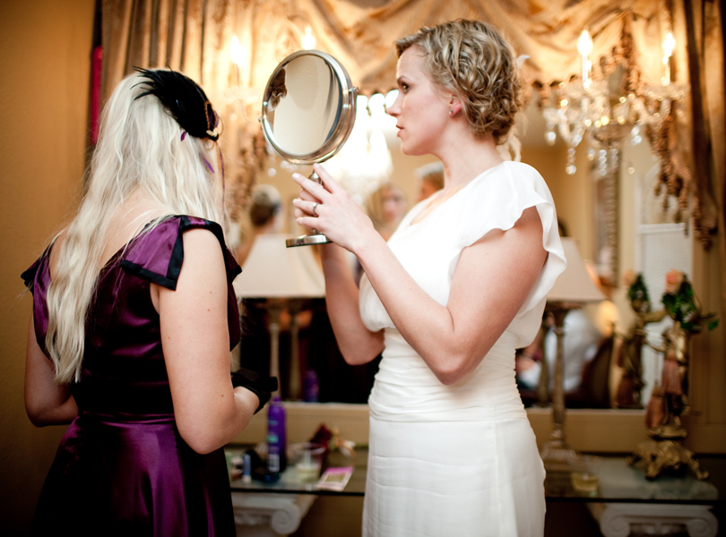bride in a mirror austin wedding photography