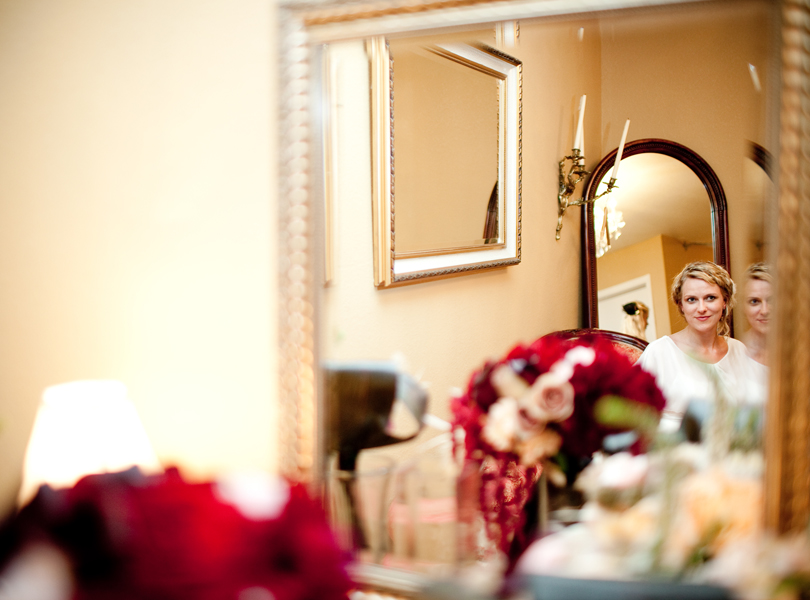 bride in a mirror san antonio wedding photography
