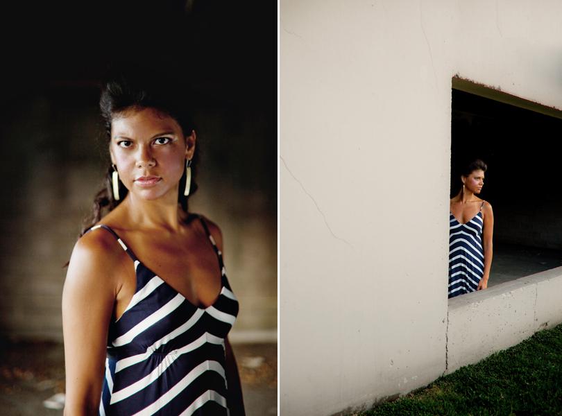 Industrial Background Fashion Test Models Austin Corinne Rotan Dress Shop