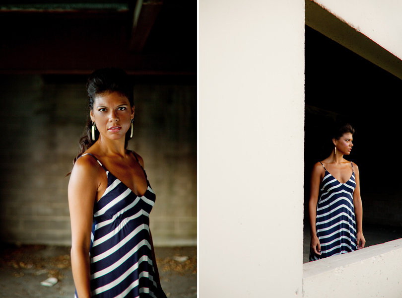 striped dress, dark skin, model shoot, austin fashion photographer, , dress shop, kaylin johnson, angela parker, LucieMarie austin rotan
