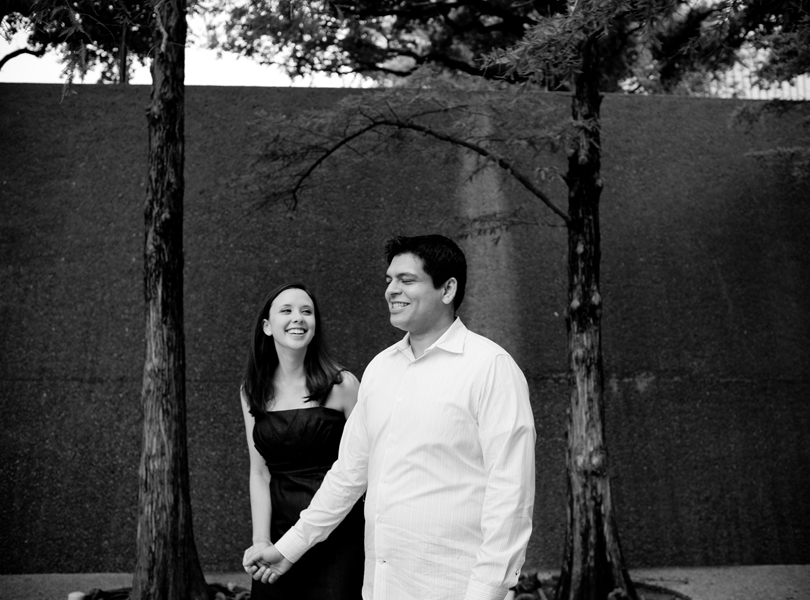 black and white photography, engagement session