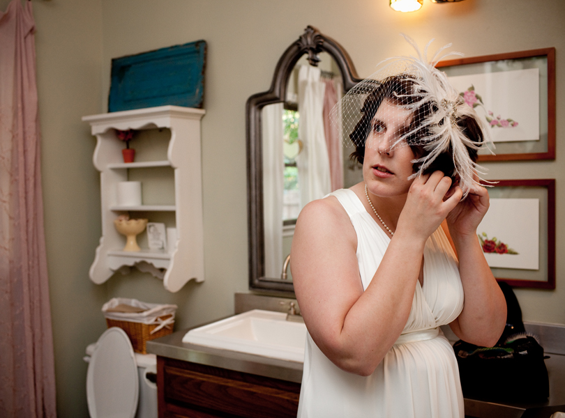 bride getting ready, inn at wild rose hall