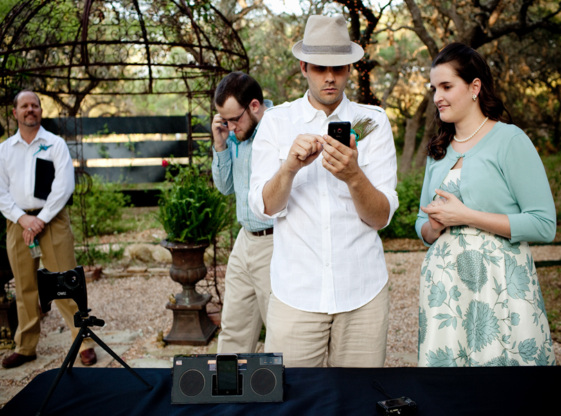technology wedding, small wedding, four guests