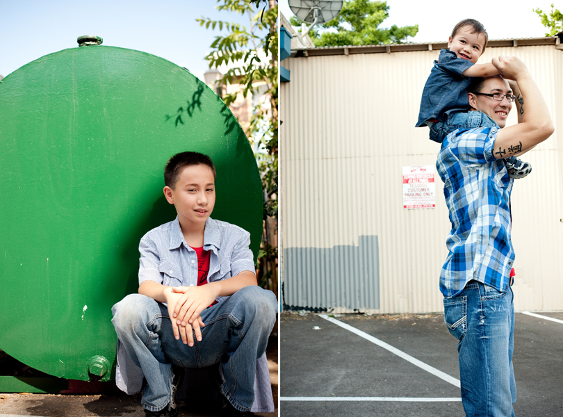 green portrait, teenage son, father and sons, austin family photography