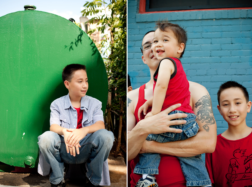 green, red blue, laughing toddler, teenage boy, Austin Family Photographer