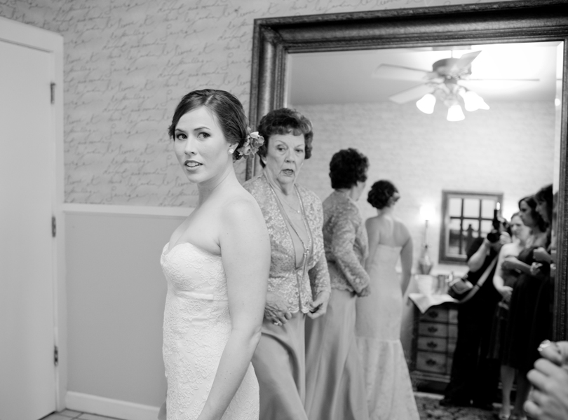 bride, grandmother of the bride, vintage villas wedding, black and white