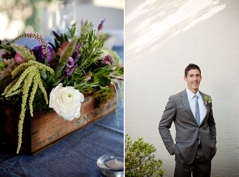 groom, Vintage Villas wedding, Verbena Floral Design