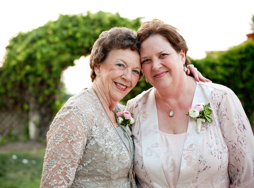 mother of the bride and grandmother of the bride, 2 generations, Vintage Villas wedding, Verbena Floral Design
