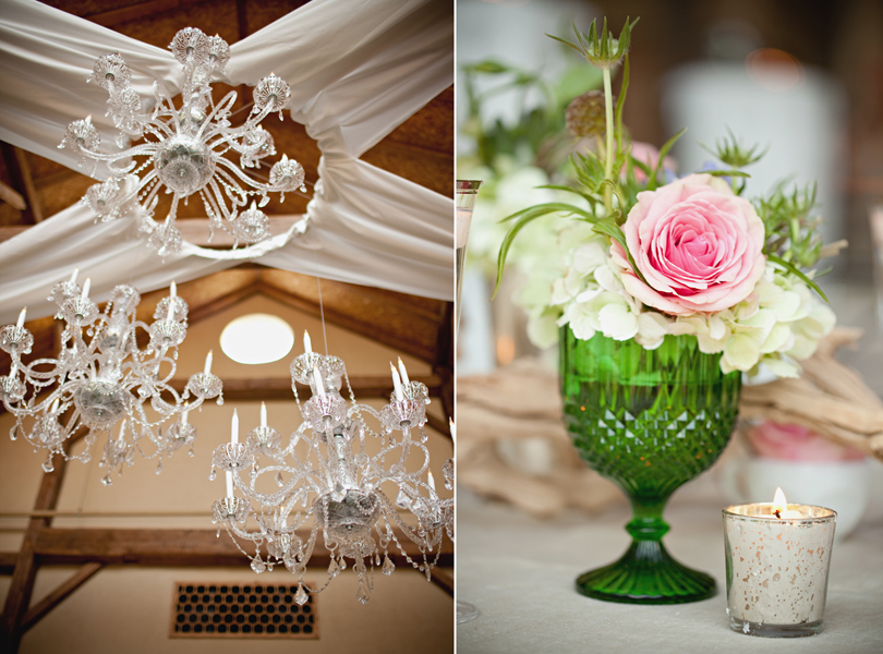 Chandelier, Barr Mansion Weddings, Stems Floral Design, green antique glass