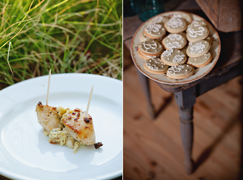 Barr Mansion Weddings, Stems Floral Design, Loot Vintage Rentals, wedding cookies, chicken, austin wedding photography