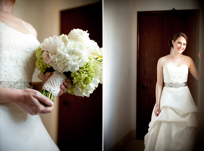 Bride, bridal portrait, bridal bouquet, green and white, Westbank Flower Market