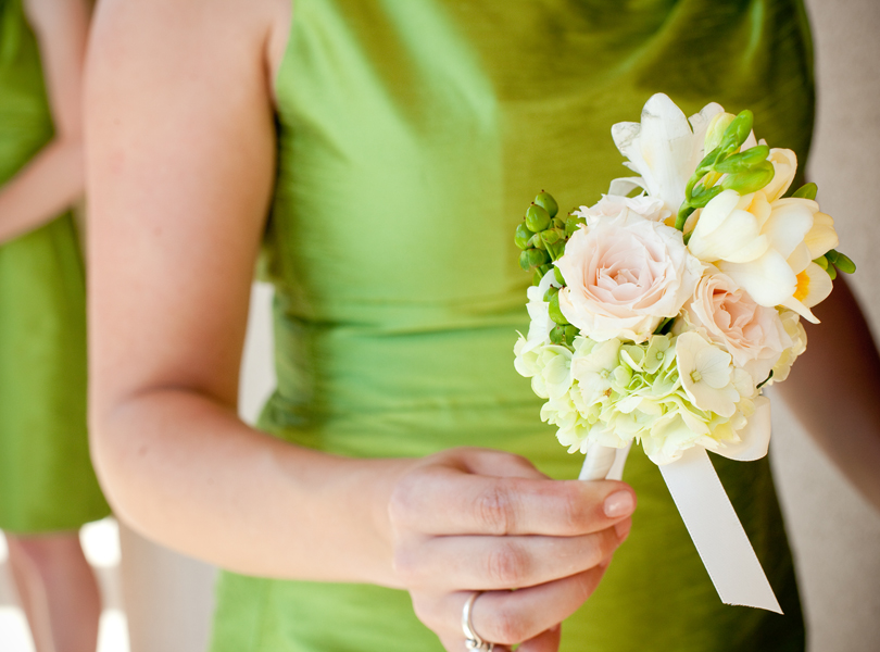 bridesmaid, maid of honor, Westbank Flower Market, green dress