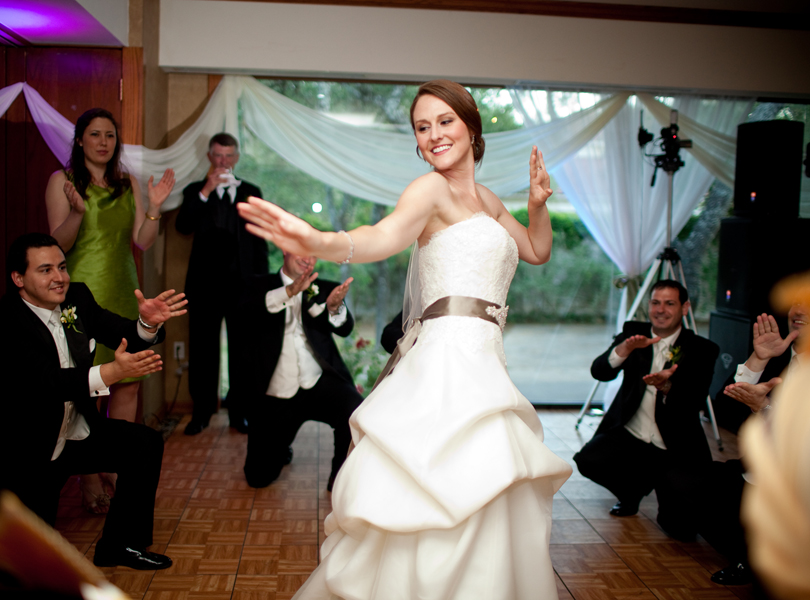 bride in traditional dance, The Hills Country Club Wedding