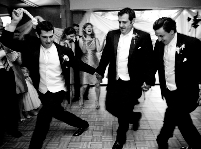 brothers in a traditional dance, The Hills Country Club Wedding, black and white