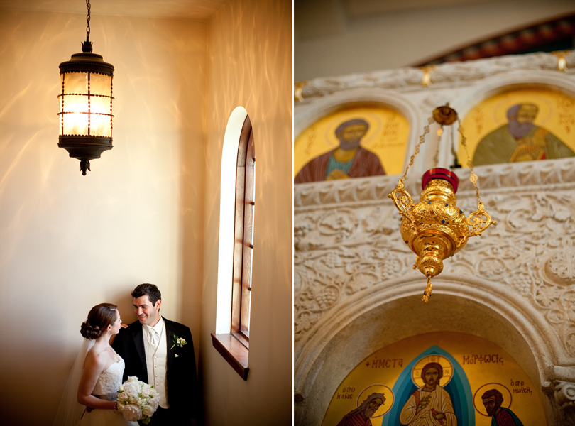 bride and groom portrait, Transfiguration Greek Orthodox Church Wedding