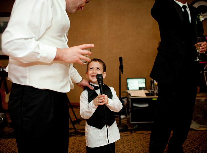 ring bearer giving a toast, The Hills Country Club Wedding