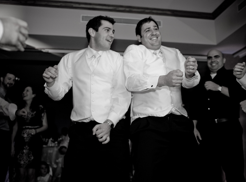 groom and brother, black and white, best man, The Hills Country Club Wedding