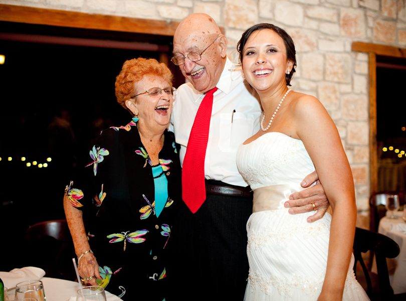 bride and grandparents, thurman mansion wedding