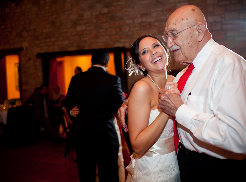 bride dance with grandpa, thurman mansion wedding, destination wedding photographer