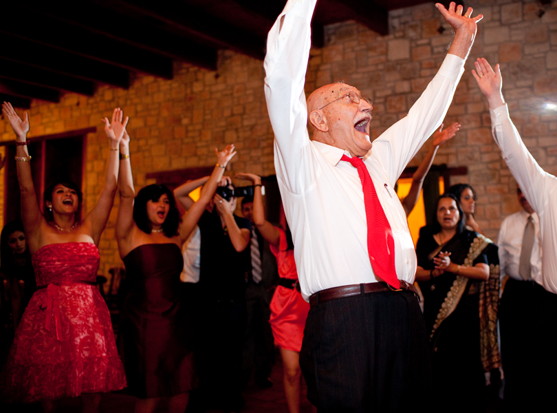 YMCA dancing, grandpa, thurman mansion wedding