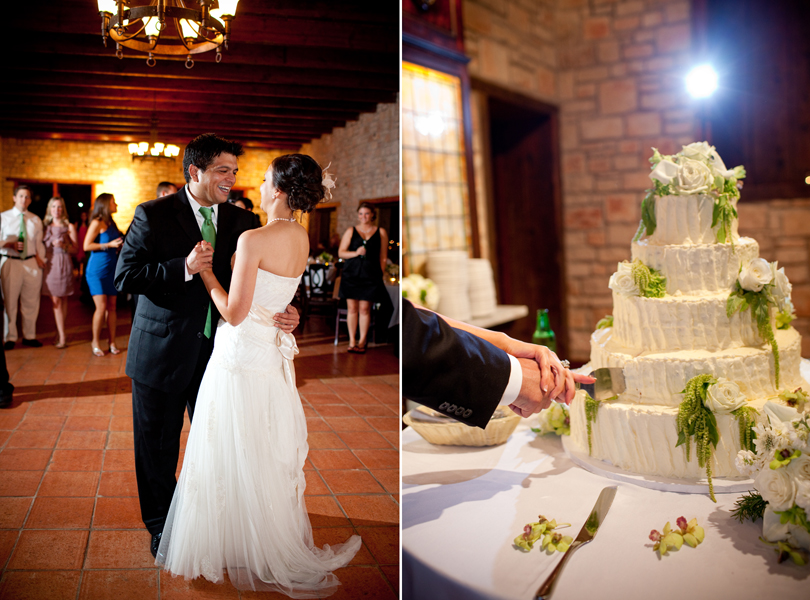 first dance, cake cutting, thurman mansion wedding